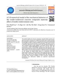 A 2-D numerical model of the mechanical behavior of the textile-reinforced concrete composite material: Effect of textile reinforcement ratio