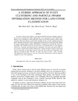 A hybrid approach of fuzzy clustering and particle swarm optimization method for land-Cover classification