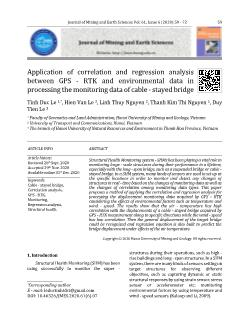 Application of correlation and regression analysis between GPS-RTK and environmental data in processing the monitoring data of cable-stayed bridge
