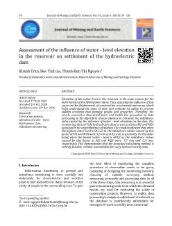 Assessment of the influence of water-Level elevation in the reservoir on settlement of the hydroelectric dam