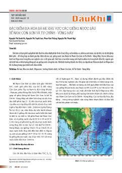 Đặc điểm địa hóa đá mẹ khu vực các giếng nước sâu bể nam côn sơn và tư chính-Vũng mây