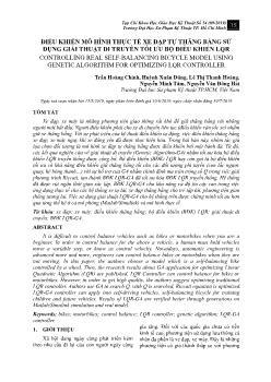 Điều khiển mô hình thực tế xe đạp tự thăng bằng sử dụng giải thuật di truyền tối ưu bộ điều khiển LQR