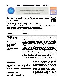 Experimental study on use fly ash in underground construction concrete