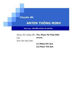 Giáo trình môn Truyền sóng và Anten - Phạm Thị Thúy Hiền