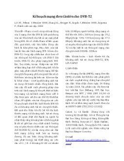 Kế hoạch mạng đơn tần lớn cho DVB-T2