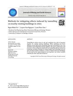 Methods for mitigating effects induced by tunnelling on nearby existing buildings in cities