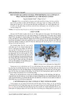 Một số kết quả khảo sát đặc tính khí động lực cánh quay trực thăng ba khớp ở các chế độ bay cơ bản