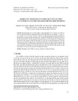 Nghiên cứu ảnh hưởng của nhiệt độ ủ lên cấu trúc và cơ tính của vật liệu Si3N4 bằng phương pháp mô phỏng