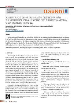 Nghiên cứu chế tạo và đánh giá tính chất hệ hóa phẩm khử nhũ phù hợp với dầu khai thác trên thềm lục địa Việt Nam ở quy mô phòng thí nghiệm