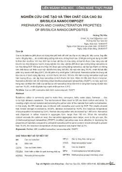 Nghiên cứu chế tạo và tính chất của cao su Br/Silica nanocompozit