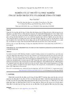 Nghiên cứu lý thuyết và thực nghiệm ứng xử xoắn thuần túy của dầm bê tông cốt thép