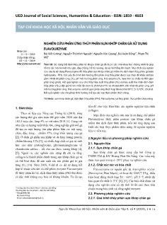 Nghiên cứu phản ứng thủy phân sụn khớp chân gà sử dụng Flavourzyme