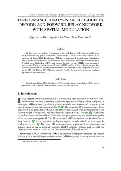 Performance analysis of full-Duplex decode-and-forward relay network with spatial modulation