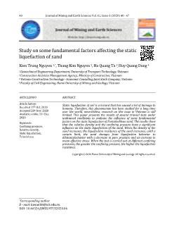 Study on some fundamental factors affecting the static liquefaction of sand
