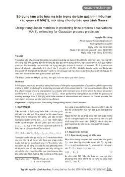 Sử dụng tam giác hóa ma trận trong dự báo quá trình hữu hạn các quan sát MA(1), mở rộng cho dự báo quá trình Gauss