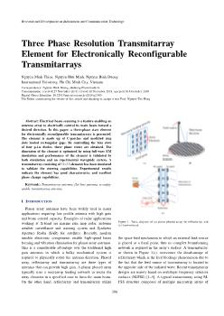 Three Phase Resolution Transmitarray Element for Electronically Reconfigurable Transmitarrays