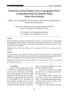 Thuật toán mã hóa Elliptic Curve Cryptography (ECC) và ứng dụng trong xây dựng hệ thống Smart-Auto Parking