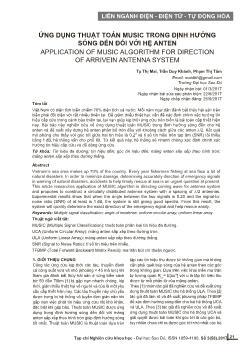 Ứng dụng thuật toán music trong định hướng sóng đến đối với hệ anten