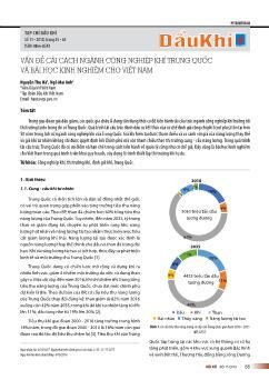 Vấn đề cải cách ngành công nghiệp khí trung quốc và bài học kinh nghiệm cho Việt Nam