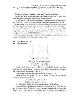 Bài giảng Cấu kiện chịu uốn (tính toán theo cường độ)