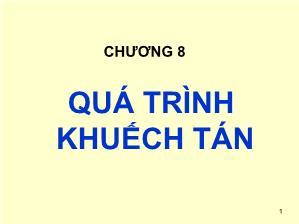 Giáo trình Cơ sở khoa học Vật liệu - Chương 8: Quá trình khuếch tán - Lê Văn Thăng