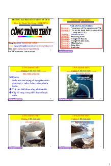 Giáo trình Công trình Thủy - Chương 3: Hồ chứa nước - Nguyễn Thống