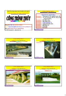 Giáo trình Công trình Thủy - Chương 5: Công trình tháo lũ - Nguyễn Thống