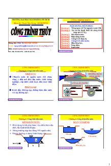 Giáo trình Công trình Thủy - Chương 6: Công trình dẫn nước - Nguyễn Thống