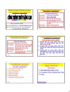 Giáo trình Công trình Thủy nâng cao - Chương 2: Áp lực khe rỗng - Nguyễn Thống