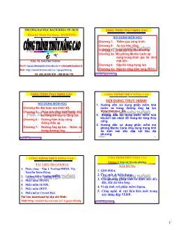 Giáo trình Công trình Thủy nâng cao - Chương 3: Đập vật liệu địa phương - Nguyễn Thống