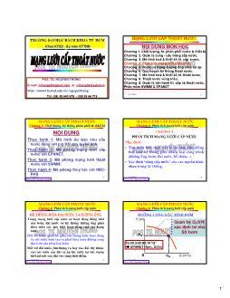 Giáo trình Mạng lưới cấp thoát nước - Chương 4: Phân tích mạng lưới cấp nước - Nguyễn Thống