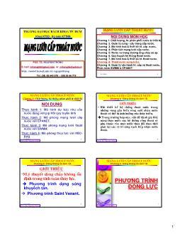 Giáo trình Mạng lưới cấp thoát nước - Chương 8: Thoát nước vùng triều - Nguyễn Thống