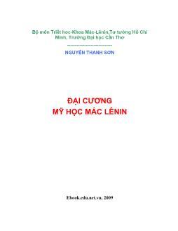 Giáo trình Mỹ học Mác-Lênin - Nguyễn Thanh Sơn
