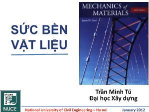 Giáo trình Sức bền vật liệu - Chương 0: Mở đầu - Trần Minh Tú