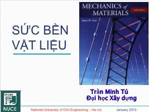 Giáo trình Sức bền vật liệu - Chương 2: Thanh chịu kéo (Nén) đúng tâm - Trần Minh Tú