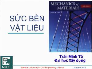 Giáo trình Sức bền vật liệu - Chương 3: Trạng thái ứng suất - Trần Minh Tú