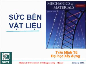 Giáo trình Sức bền vật liệu - Chương 4: Đặc trưng hình học mặt cắt ngang - Trần Minh Tú