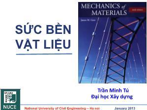 Giáo trình Sức bền vật liệu - Chương 6: Thanh chịu uốn phẳng - Trần Minh Tú