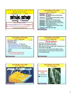 Giáo trình Thủy năng-Thủy điện - Chương 1: Tổng quan - Nguyễn Thống