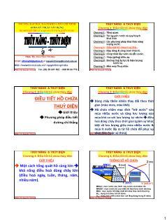 Giáo trình Thủy năng-Thủy điện - Chương 4: Điều tiết hồ chứa thủy điện - Nguyễn Thống