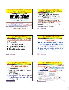 Giáo trình Thủy năng-Thủy điện - Chương 6: Công trình lấy nước và dẫn nước - Nguyễn Thống