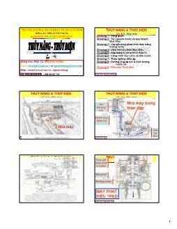 Giáo trình Thủy năng-Thủy điện - Chương 9: Nhà máy Thủy điện - Nguyễn Thống