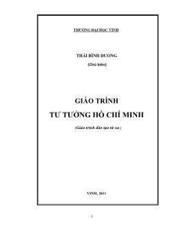 Giáo trình Tư tưởng Hồ Chí Minh - Thái Bình Dương