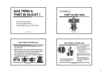 Giáo trình Vật liệu Silicat - Chương 3: Thiết bị đập nón