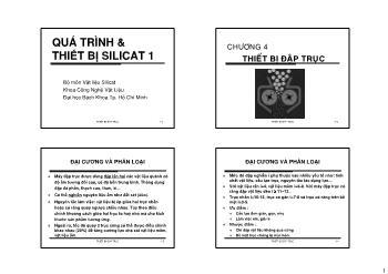 Giáo trình Vật liệu Silicat - Chương 4: Thiết bị đập trục