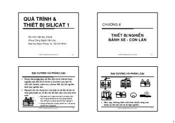 Giáo trình Vật liệu Silicat - Chương 4: Thiết bị nghiền bánh xe-Con lăn