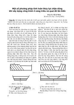 Một số phương pháp tính toán thủy lực chặn dòng khi xây dựng công trình ở vùng triều và quai đê lấn biển