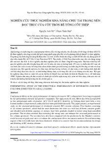 Nghiên cứu thực nghiệm khả năng chịu tải trọng nén dọc trục của cột tròn bê tông cốt thép