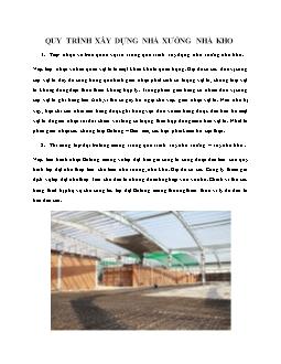 Quy trình xây dựng nhà xưởng nhà kho