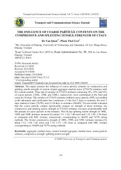 The influence of coarse particle contents on the compressive and splitting tensile strength of ctacs